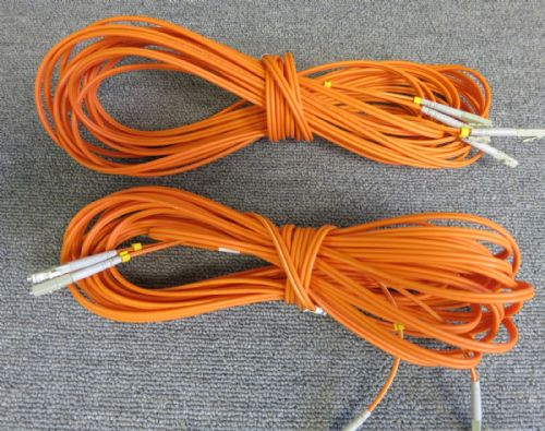 2 x Fibre Optic Cable 50/125 Orange Unknown Length